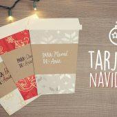 Tarjetas navideñas en forma de café!